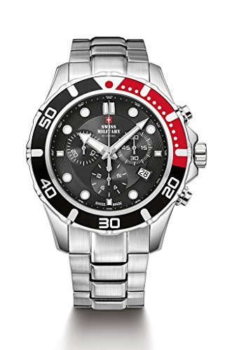 Swiss Military By Chrono Analogue Black Dial Men's Watch SM34044.01