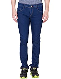 Eprilla Men's Cotton Blend Dark Blue Jeans