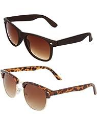 Zyaden COMBO Of Wayfarer Sunglasses & Clubmaster Sunglasses (Combo-55)