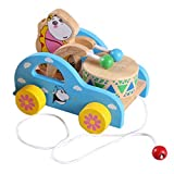Aivtalk Cute Kid Infant Toddler Wooden Educational Toys For Children Baby Colorful Wooden Bear Playing The Drum...