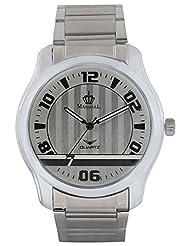 MARSHAL Men Silver Analogue Off-White Dial Men's Watch - (MRSL-MEN-003)