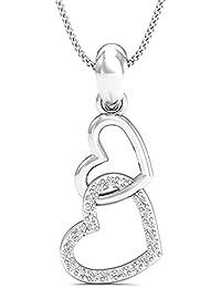 Stylori 18k Gold And Diamond Heart Knot Pendant