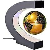 Antigravity Floating Magnetic Globe With LED Light Gift Decoration (Gold)