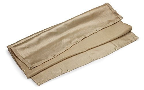 Neiko 10908A Fiberglass Welding Blanket, Rated at 1000F | 4 x 6 Feet with Grommets