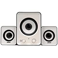 SADA D-200A 2.1 Subwoofer USB Computer Speaker Black And White Black & White