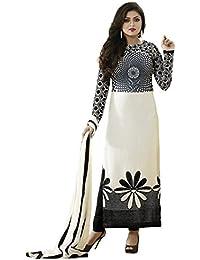 Jashvi Creation Women's Printed Unstitched Regular Wear Dress Material (Black_Dress_1056)