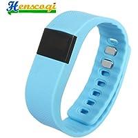 Henscoqi TW64 Fashion Smart Sports Wrist Band Bracelet With Bluetooth Blue