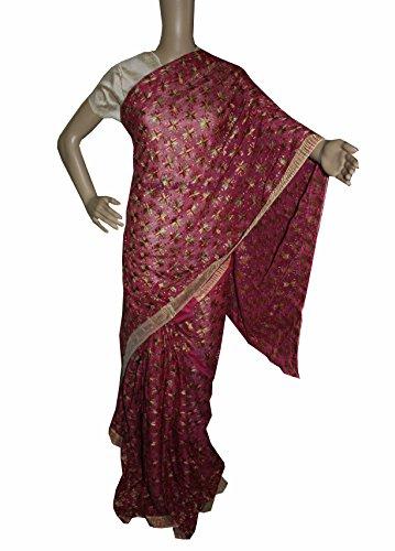 Beautiful RUDA Designer Phulkari Embroidered Saree-JS1103