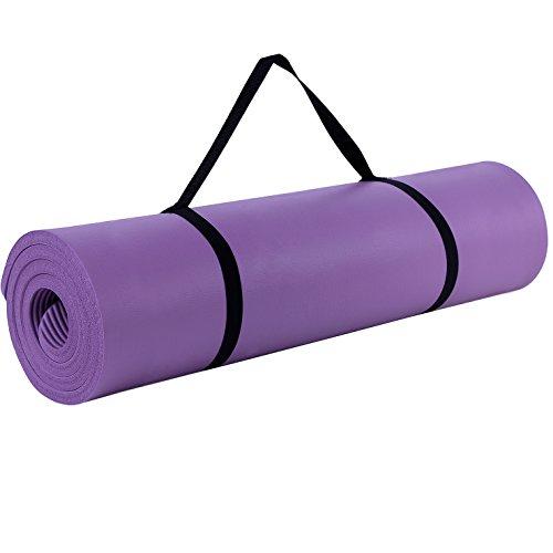 Songmics 183x61x1,0cm Colchoneta de Yoga Esterilla Para Pilates Violeta FYG61P