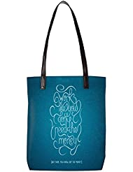 Snoogg Advice On Work And Money Womens Digitally Printed Utility Tote Bag Handbag Made Of Poly Canvas With Leather...
