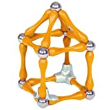 INTRO Pack: Yellow (28 pieces) Goobi Magnetic Construction Set.  Contains 16 yellow bars, 10 spheres and 2 tripods.