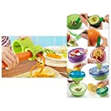 Alcoa Prime Creative Fruits Plant Kitchen Tool Set With Dual Spiral Cutter And Sharpener