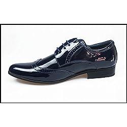 Scarpe Francesine uomo Blu linea classica Man's Shoes top class eleganti cerimonia