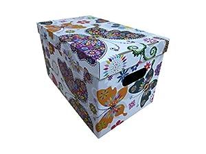 ® Aufbewahrungsbox Karton Pappe mit Deckel Kiste Schachtel