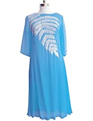 Pakiza Design New Arrival Sky Blue Embroidered Georgette Festival Special Party Wear Kurti For Women(XL Size)
