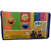 Verdes Sesame Street Foam Building Blocks 50 Pieces