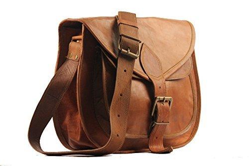 "B&h 13""x10"" Brown Genuine Leather Womens Bag /Hand Bag /Tote/ Purse/ Shopping Bag"