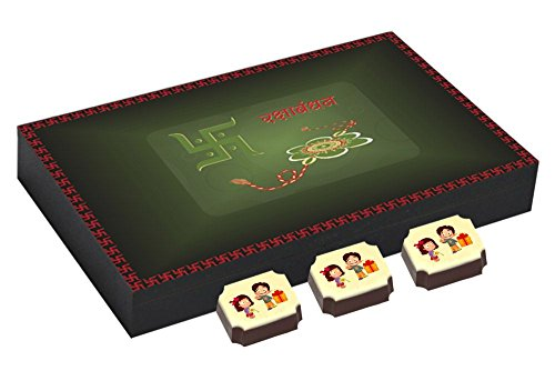 Best Chocolate Box With Rakhi - Unique Gift For Rakshabandhan - 12 Chocolate Box With Rakhi