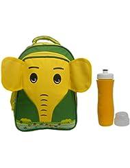 Combo RSC Elephant School Bag (Kids 4-9 Years Age) And Trueware Aqua Sipper - B01IREDFZW