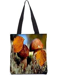 Snoogg Shining Mushroom Digitally Printed Utility Tote Bag Handbag Made Of Poly Canvas