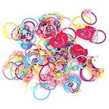Banggood 50pcs Kids/girls Scrunchie Ponytail Holder Beads Hair Band Hair Elastic Rope