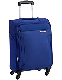 American Tourister Troy Polyester 56 Cms Royal Blue Soft Sided Carry-On (AMT TROY SP56 ROYAL BLUE)