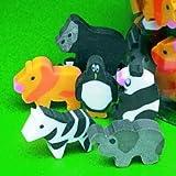 144 Zoo Animal Mini Erasers