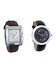 Gledati Men's White Dial & Foster's Women's Grey Dial Analog Watch Combo_ADCOMB0002271