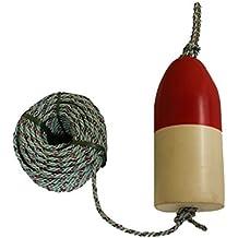 "KUFA SPORTS 1/4"" Diameter/100' Lead Core Rope & 11"" Red/White Float Combo"
