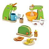 Hape Mighty Mixer With Pop-Up Toaster & Coffee Maker Play Set