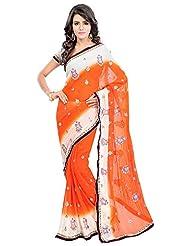 Bano Tradelink Women's Chiffon Saree(7018)