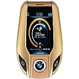 BWM Car Key Mini Phone I8 Blutooth Mobile Phone In Gold Colour