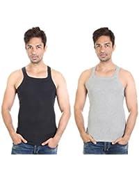 Bodysense Black & Grey Men's Gym Vest ( Pack Of 2 )