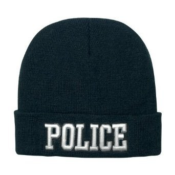 Deluxe Embroidered Watch Cap - Police