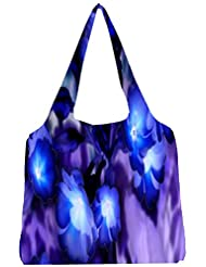 Snoogg Glowing Flowers Inspired 2634 Womens Jhola Shape Tote Bag