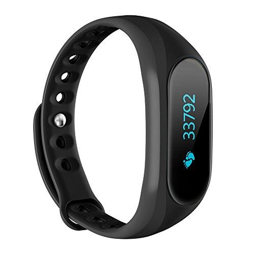 Cubot V1 Smartband Sportif Bracelet Écran Affichage Dormir Moniteur Intelligent Alarme Anti-perdue pour iPhone 6 6 Plus 6S 6S Plus Android 4.3 IOS 8.0 Bluetooth 4.0 or Dessus Smartphone