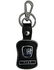 Techpro Premium Quality Leatherite Keychain With Fiat Design