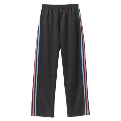 (ユナイテッド アスレ)United Athle 7.0オンスジャージロングパンツ 179501 9864 ブラック×ターコイズブルー×トロピカルピンク L