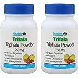 Healthvit Triphala Powder 250 Mg - 60 Capsules (Pack Of 2)