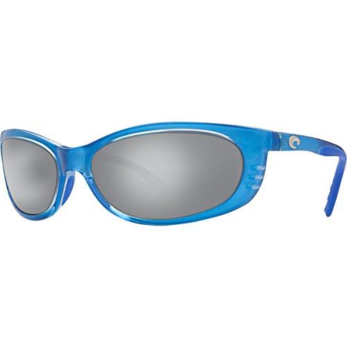 c2d8dafbe60 Costa Del Mar Fathom Mens Polarized Sunglasses Sky Blue Silver Mirror Glass  W580
