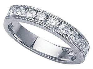 Karina B (tm) Round Diamonds Band in Platinum 950 Size 6
