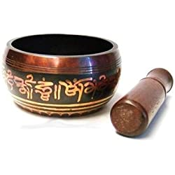 """Tibetan Singing Bowls High Quality with Striker, 4.5"""" Wide"""