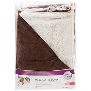 Amazon.com : Petco Made for Me Brown and White Duvet Dog