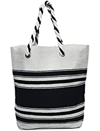 Diwaah Beautifully Handcrafted Casual Cotton Multi Color Tote Bag With Magnetic Snap (DWH000000795)