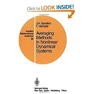Averaging methods in nonlinear dynamical systems Ferdinand Verhulst, Jan A. Sanders