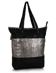 Home Heart Women's Eco Friendly Tote Bag (Silver/Black) - B00KG7VAQU