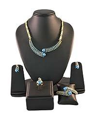 Blue Designer Jewellery Set