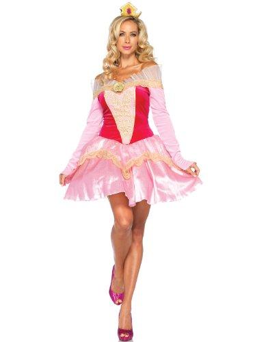 Halloween 2017 Disney Costumes Plus Size & Standard Women's Costume Characters - Women's Costume CharactersLeg Avenue Disney 2Pc. Princess Aurora Costume Dress with Organza Stay Up Collar and Crown HeadPiece, Pink Dress - Standard & Plus Sizes