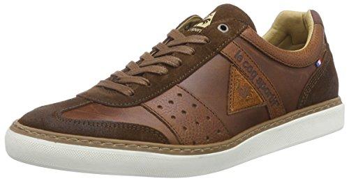 Le Coq Sportif TOUQUET LOW-153 - zapatilla deportiva de cuero hombre, color marrón, talla 46
