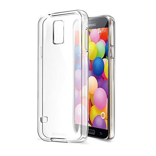 Coolreall Coque Samsung Galaxy S5 Housse Etui TPU Clair Transparente Sans Encombrement Ultra Douce Coque avec un design unique granuleuse d'absorption...
